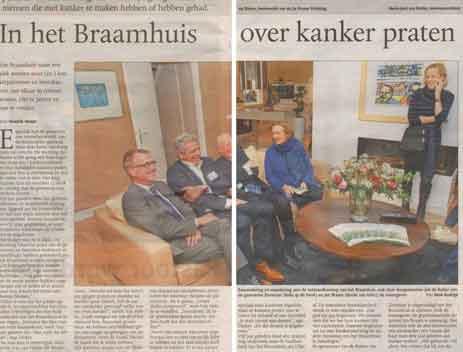 De Gelderlander – In het Braamhuis over kanker praten