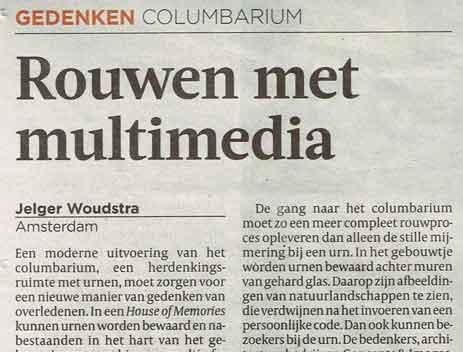 De Volkskrant – Rouwen met multimedia