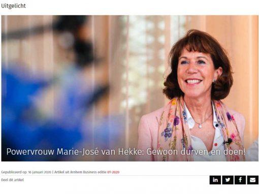 Powervvrouw Marie-José van Hekke: Gewoon durven en doen!